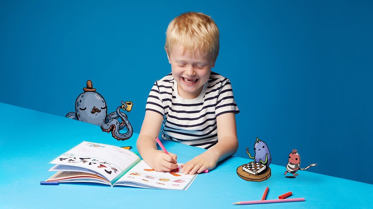 Image boy colouring book