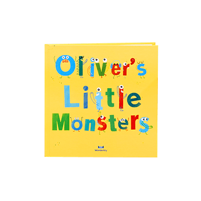 My Little Monster Book Cover in Lemon Yellow