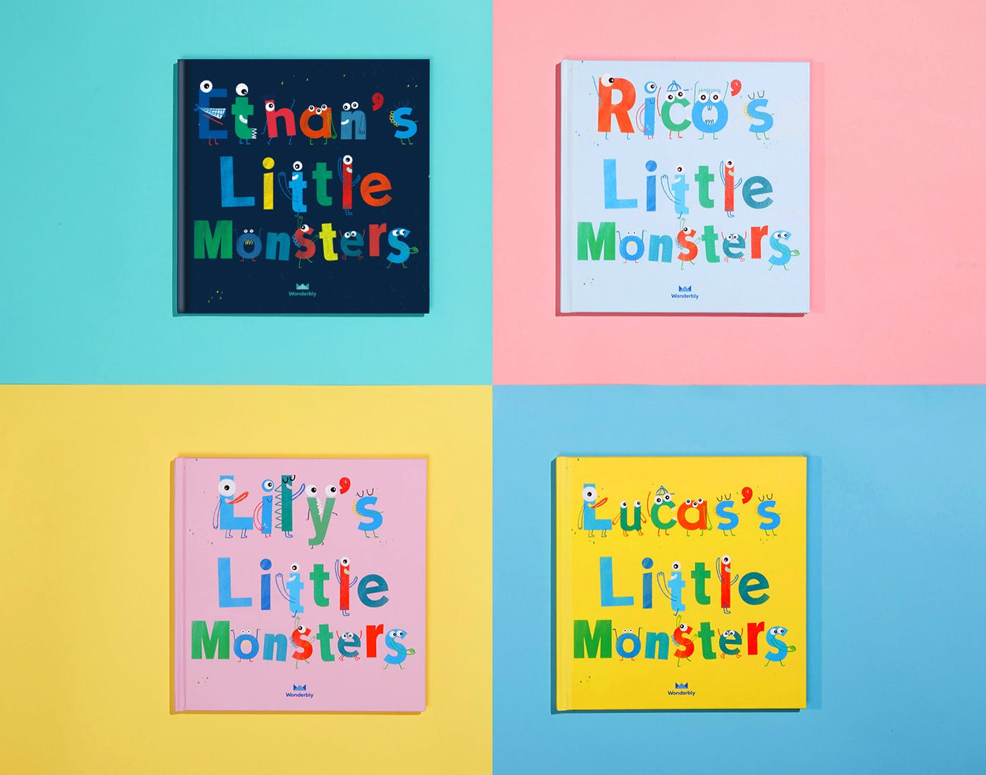 4 My Little Monsters Book Covers