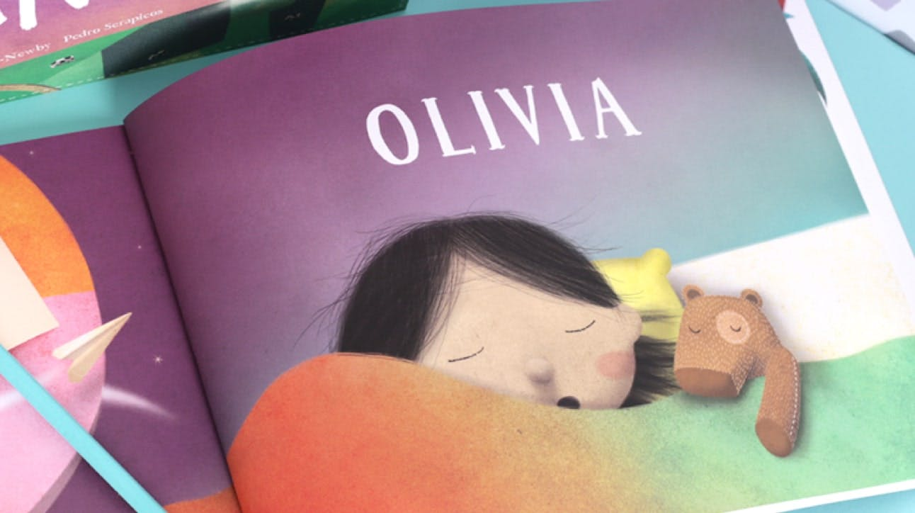 Preview of Lost My Name book - personalized book for Olivia