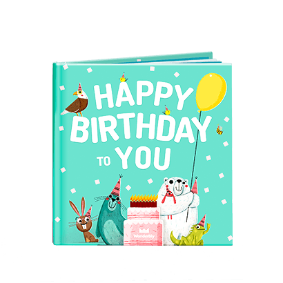 Happy Birthday To You Book with Mint Green Cover